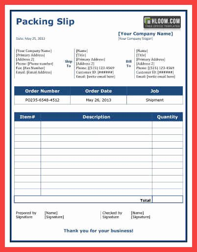 Packing Slip Template Word New Packing List Word Template