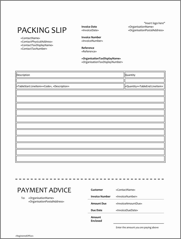 Packing Slip Template Word Unique 25 Free Shipping & Packing Slip Templates for Word & Excel