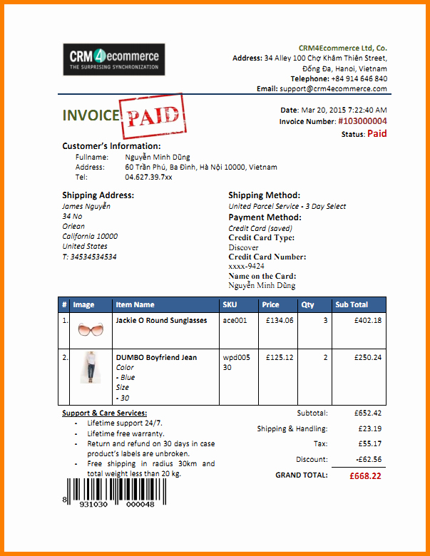 Paid In Full Receipt Fresh Paid In Full Invoice Template 6 Paid Invoice Template