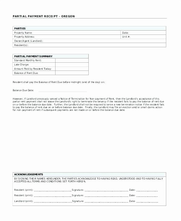 Paid In Full Template Beautiful Paid In Full Receipt Template Part Payment Receipt format