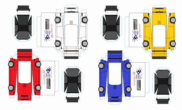 Paper Model Car Templates Awesome 14 Best S Of Printable Paper toy Cars Paper Car