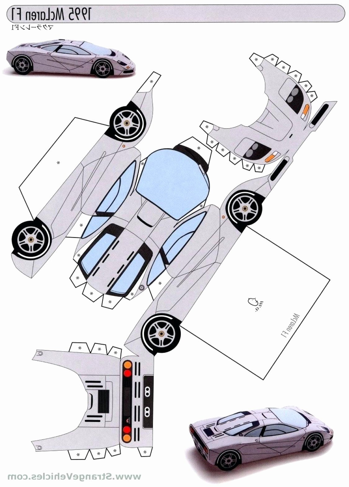 Paper Model Car Templates Awesome Car Papercraft Template