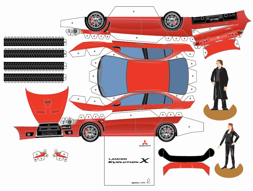 Paper Model Car Templates Awesome Mitsubishi Paper Cars