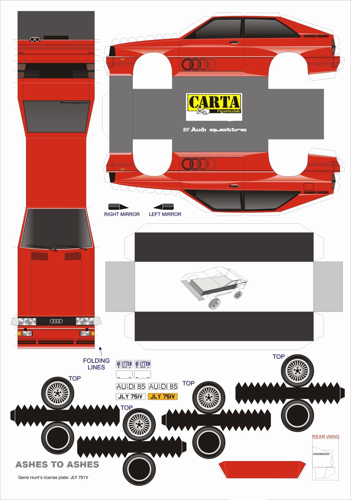 Paper Model Car Templates Best Of Choice Gear Build Your Own Audi Ur Quattro with Printer