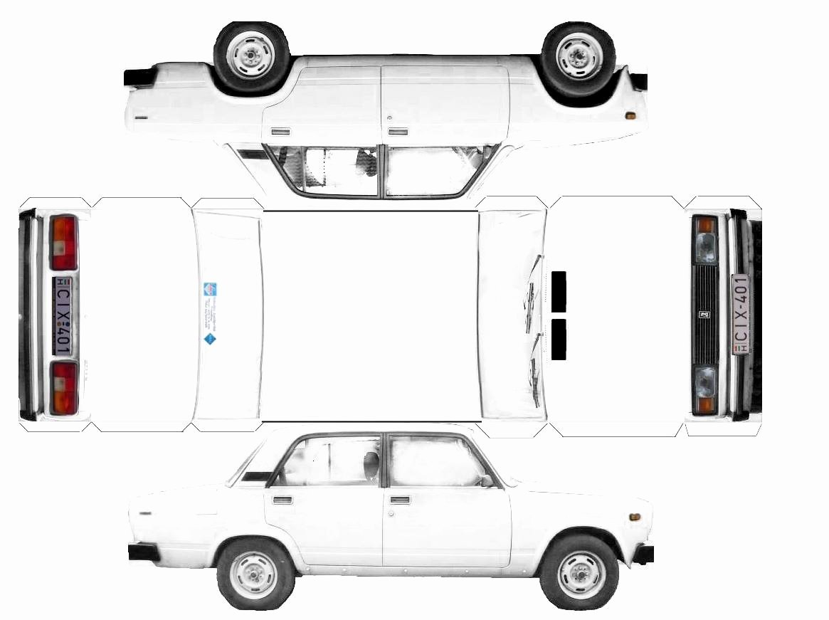 Paper Model Car Templates Fresh Paper Lada toy Car Print Cut Glue and Ready to Go