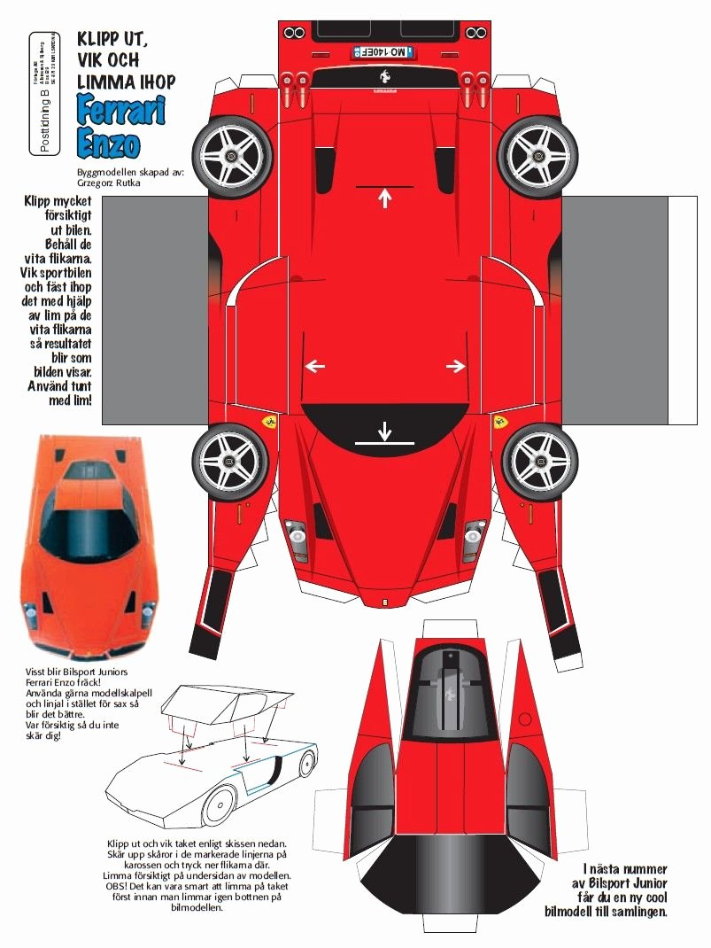 Paper Model Car Templates Lovely Car Papercraft Template