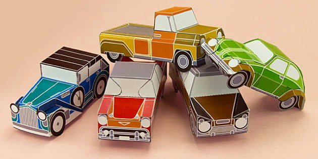 Paper Model Car Templates Luxury Enkl Vintage Car Paper Model Printables Enkl Arts Crafts