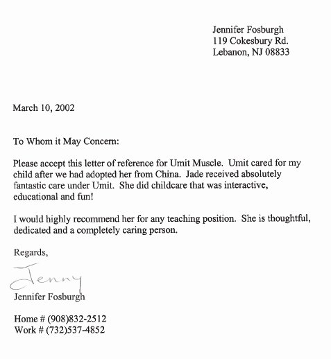 Parent Recommendation Letter for Child Fresh Testimonials and Thank You Notes – Little Angels Family