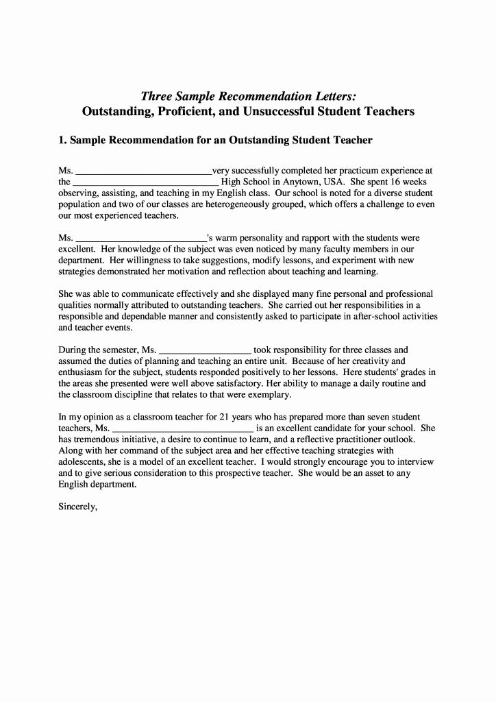 Parents Letter Of Recommendation Fresh Sample Parent Letter From Teacher