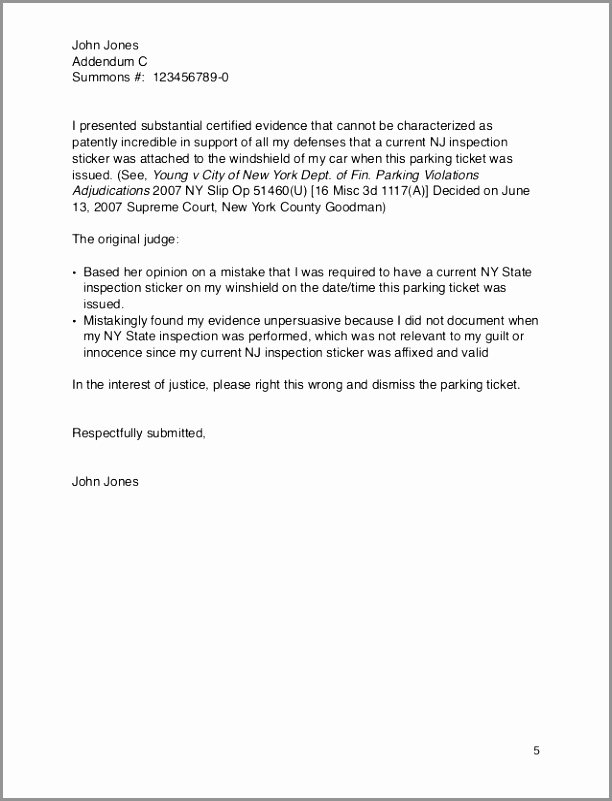 Parking Ticket Appeal Sample Best Of 5 Parking Ticket Appeal Letter Example ortri