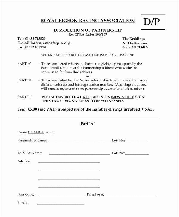 sample partnership agreement forms
