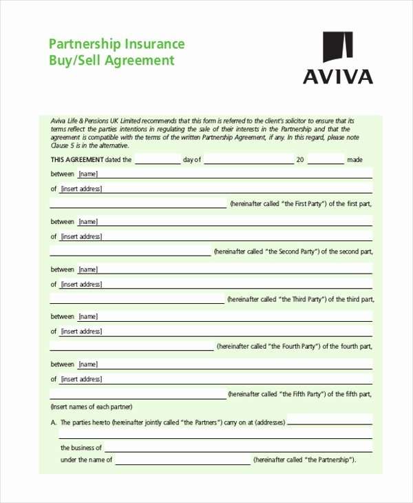 Partnership Buyout Agreement Lovely 9 Sample Partnership Agreement forms Free Sample