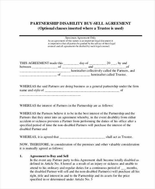 Partnership Buyout Agreement Template New 11 Partnership Agreement form Samples Free Sample