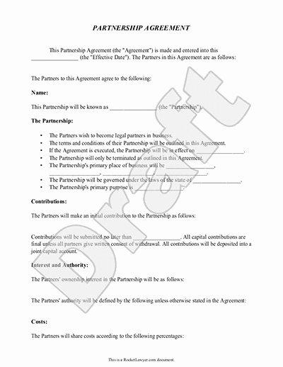 Partnership Buyout Agreement Template Unique Partnership Agreement Template