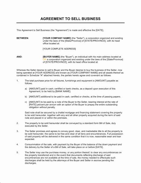 Partnership Buyout Agreement Template Unique Sale Business Agreement