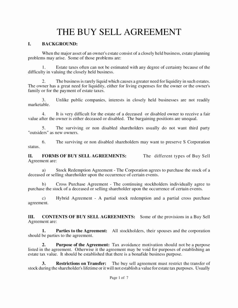Partnership Buyout Agreement Template Unique Understanding the 3 Fundamentals Of A Buy Sell Agreement