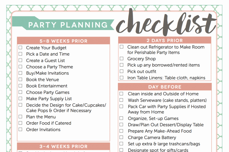 Party Plan Checklist Template Elegant 5 Tips to Hosting An Awesome Dinner Party for Your Friends