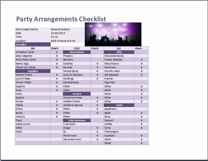 Party Plan Checklist Template Lovely How to Make A Check F Sheet In Excel Wedding Checklist