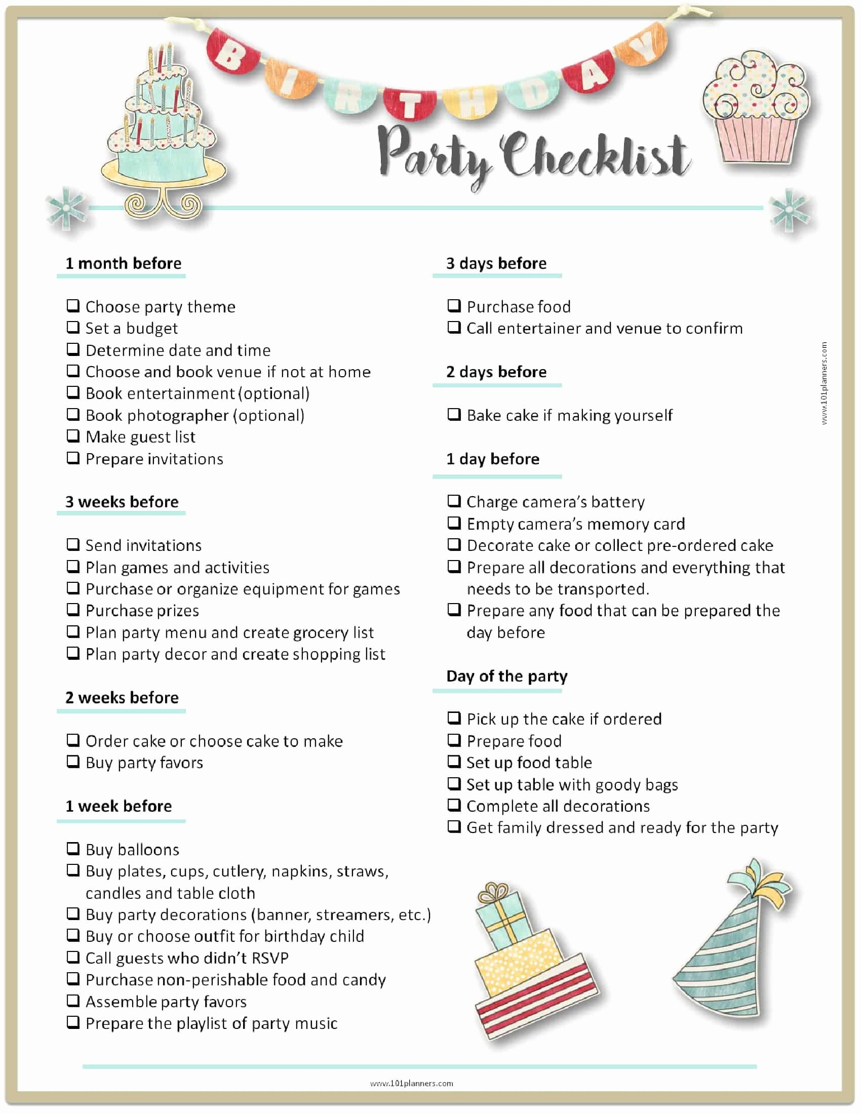 Party Plan Checklist Template Lovely Party Planning Template