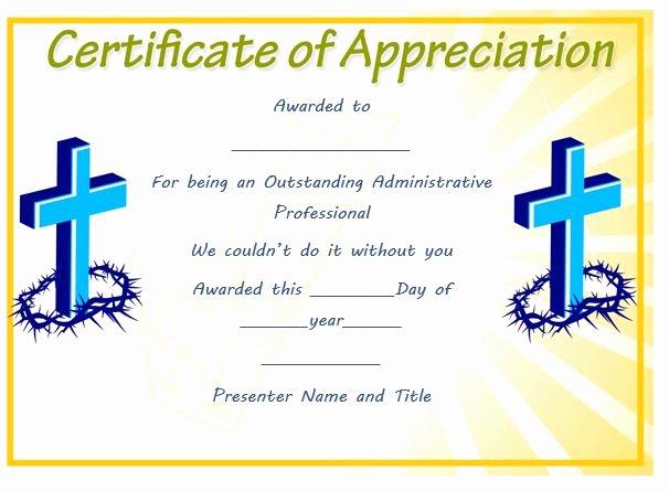 Pastor Appreciation Certificate Template Awesome thoughtful Pastor Appreciation Certificate Templates to