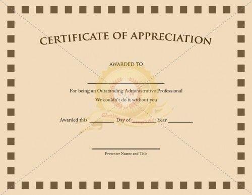 Pastor Appreciation Certificate Template Beautiful 1000 Images About Appreciation Certificate On Pinterest