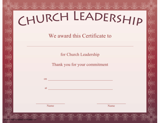 Pastor Appreciation Certificate Template Elegant A Bordered Certificate to Be Presented In Appreciation Of