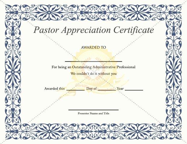 Pastor Appreciation Certificate Template Elegant Best S Of Copy Church Programs Sample Wedding