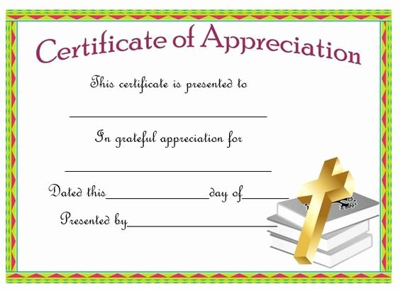 Pastor Appreciation Certificate Template Elegant Certificate Appreciation for A Pastor