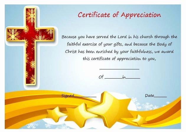 Pastor Appreciation Certificate Template Elegant Sample Certificate Appreciation for Pastor 2