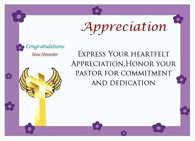 Pastor Appreciation Certificate Template Free Awesome 10 Free Appreciation Certificate Templates for Word