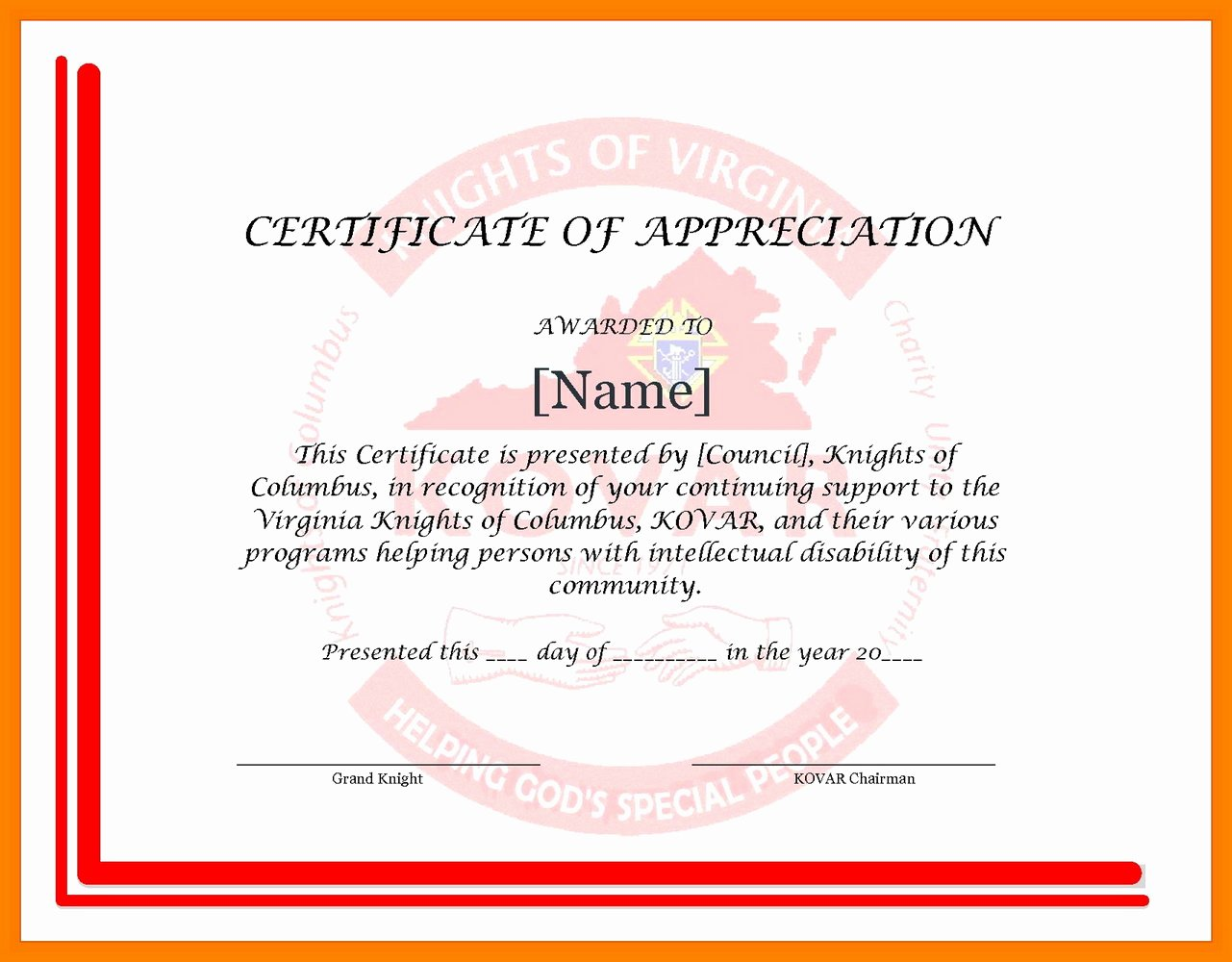 Pastor Appreciation Certificate Template Free Best Of Free Certificate Appreciation Templates for Word