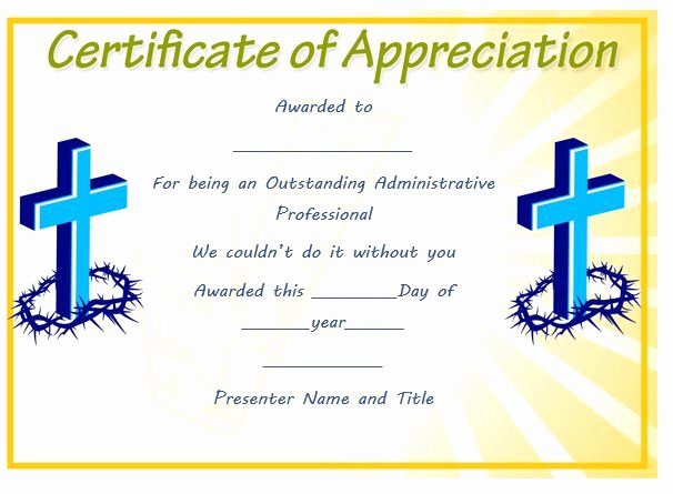 Pastor Appreciation Certificate Template Free Fresh thoughtful Pastor Appreciation Certificate Templates to