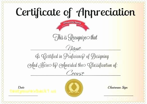 Pastor Appreciation Certificate Template Free Inspirational Sample Certificate Appreciation Portray Enticing for
