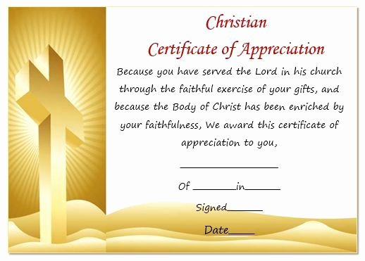 Pastor Appreciation Certificate Template Free New 30 Certificate Of Appreciation Template Download