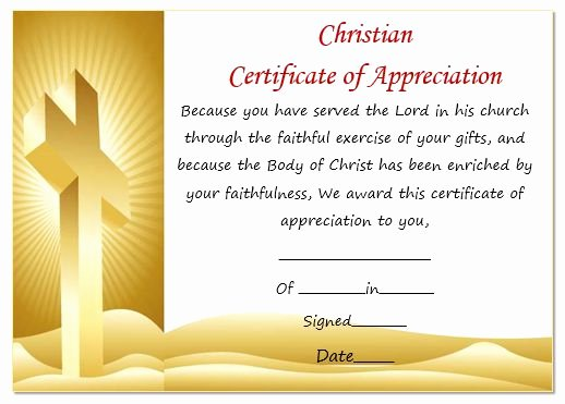 Pastor Appreciation Certificate Template Free New thoughtful Pastor Appreciation Certificate Templates to