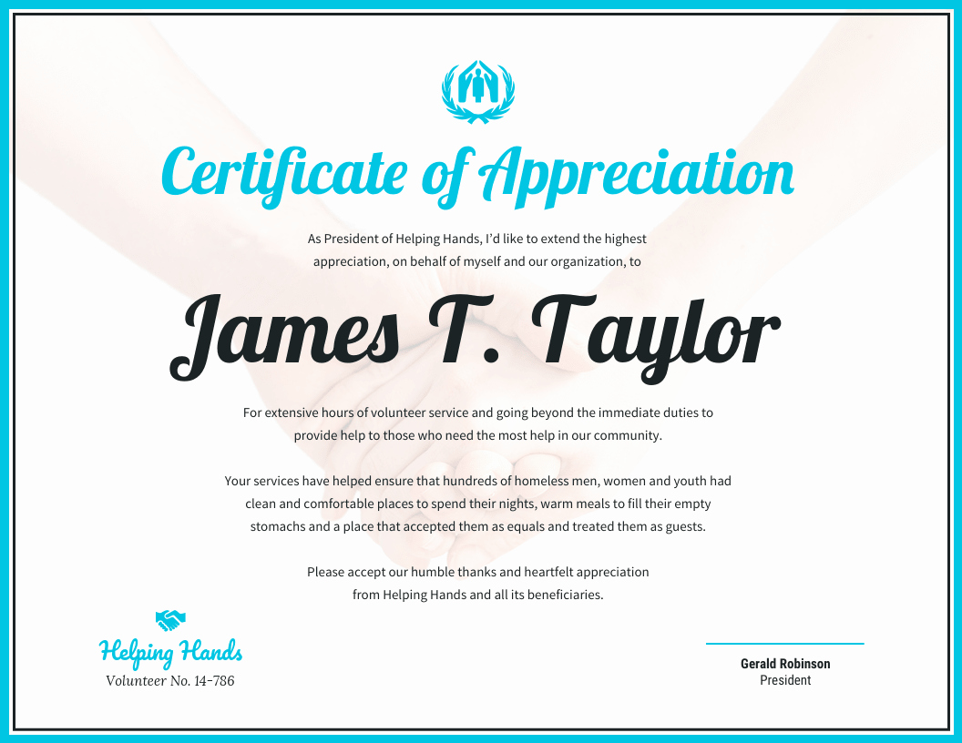 Pastor Appreciation Certificate Template Free Unique Certificate Of Appreciation Template Venngage