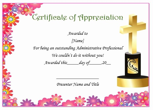 Pastor Appreciation Certificate Template Free Unique thoughtful Pastor Appreciation Certificate Templates to