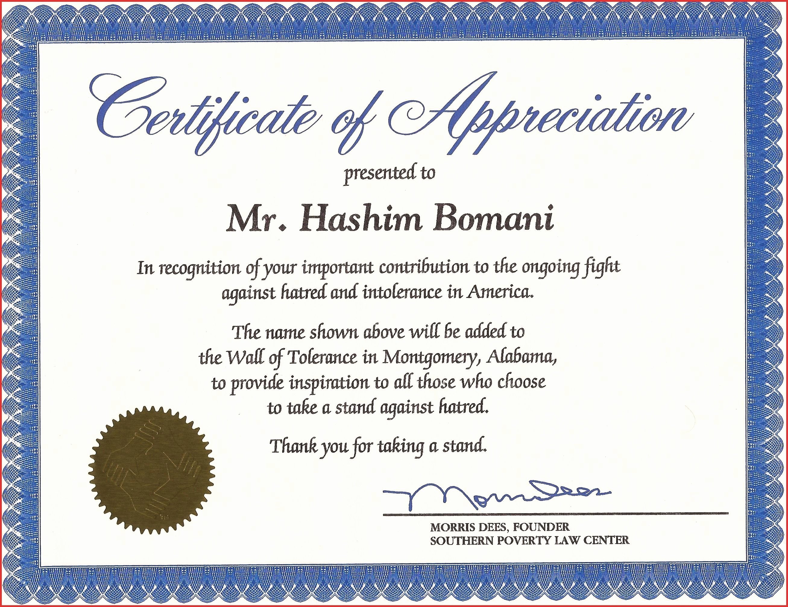 Pastor Appreciation Certificate Template Luxury Appreciation Certificate for Employees Sample to New
