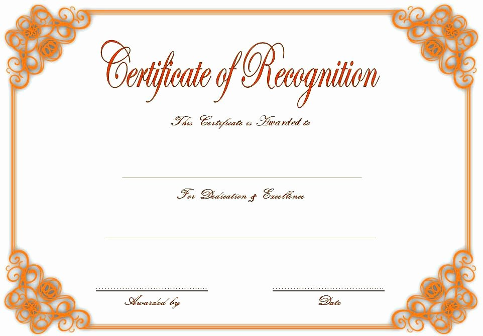 Pastor Appreciation Certificate Template New Appreciation Certificate Template Editable – Peero Idea