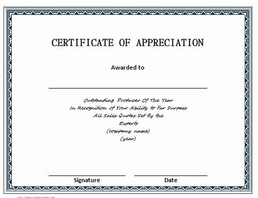 Pastor Appreciation Certificate Template Unique 30 Free Certificate Of Appreciation Templates and Letters