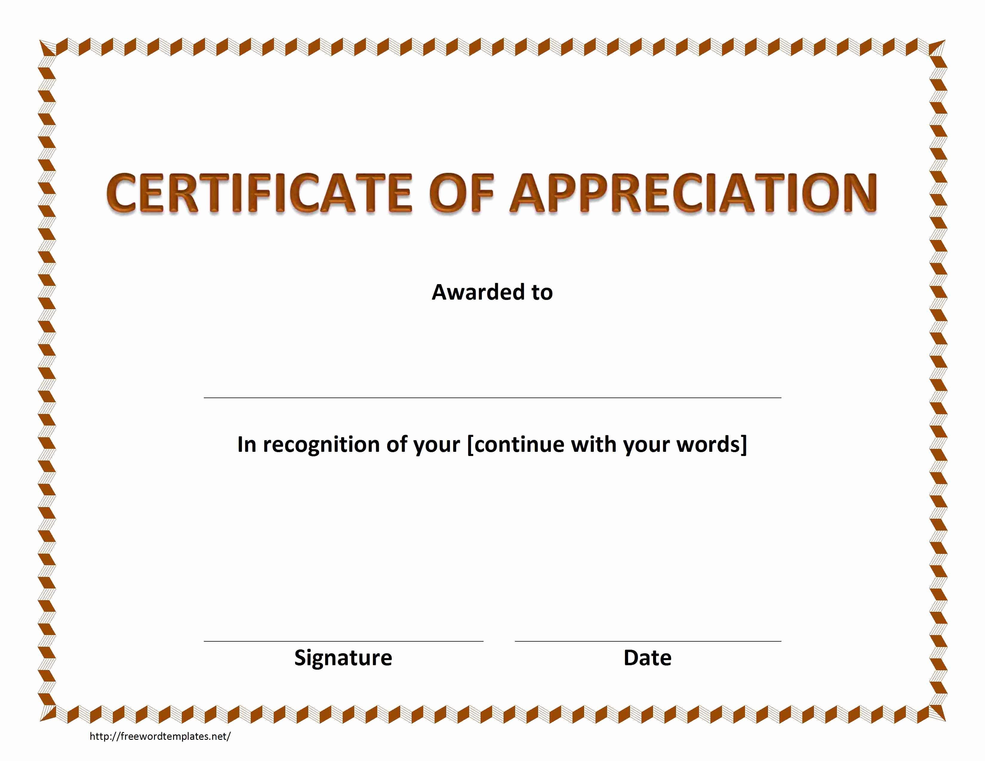 Pastor Appreciation Certificate Template Unique Certificate Of Appreciation