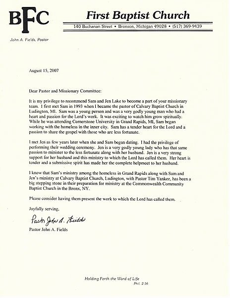 Pastor Letter Of Recommendation Best Of Re Mendation Letter From Pastor