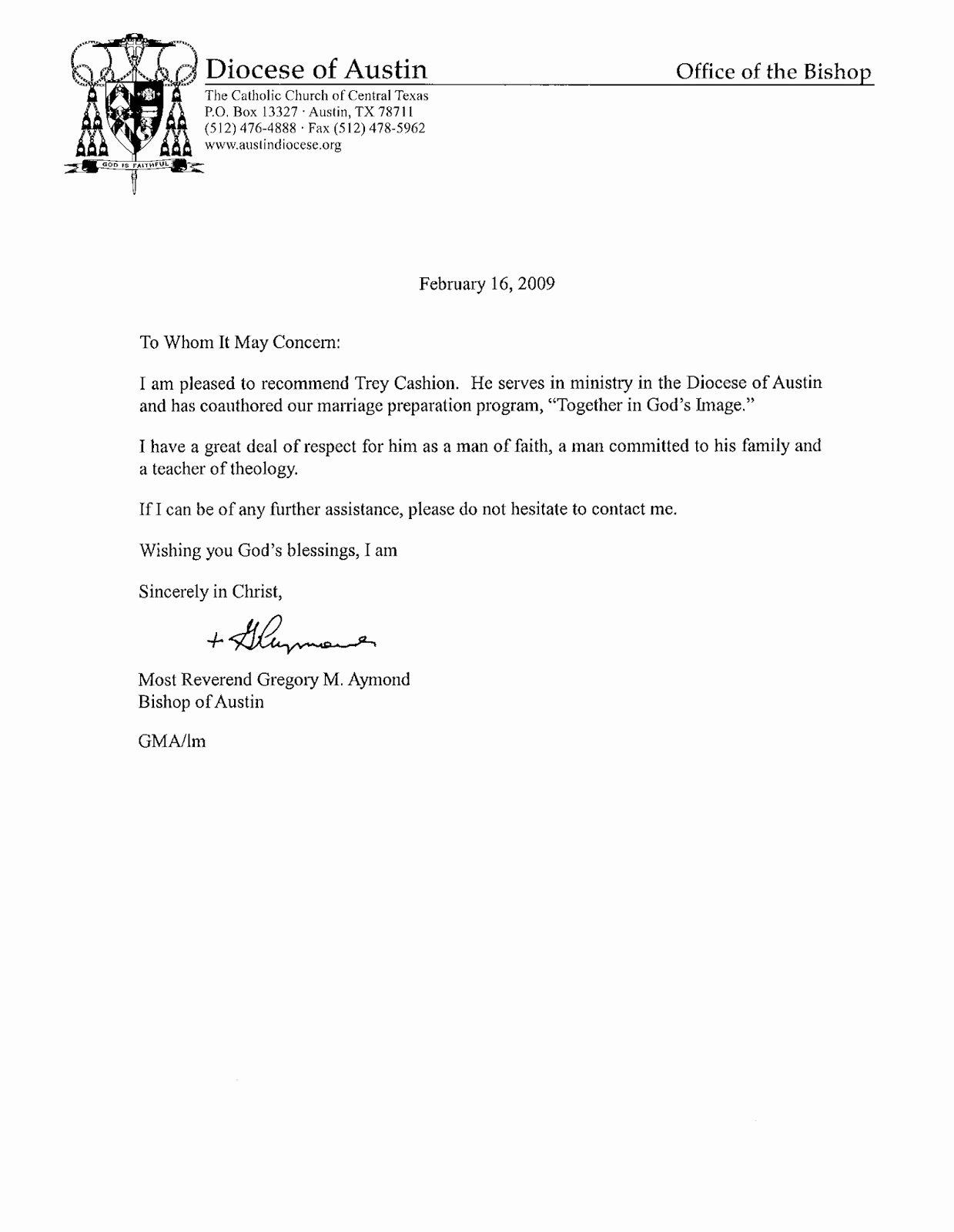 Pastor Letter Of Recommendation Elegant Re Mendation Letter