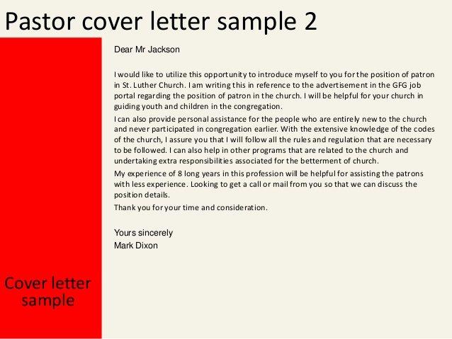 Pastor Letter Of Recommendation Luxury Pastor Cover Letter