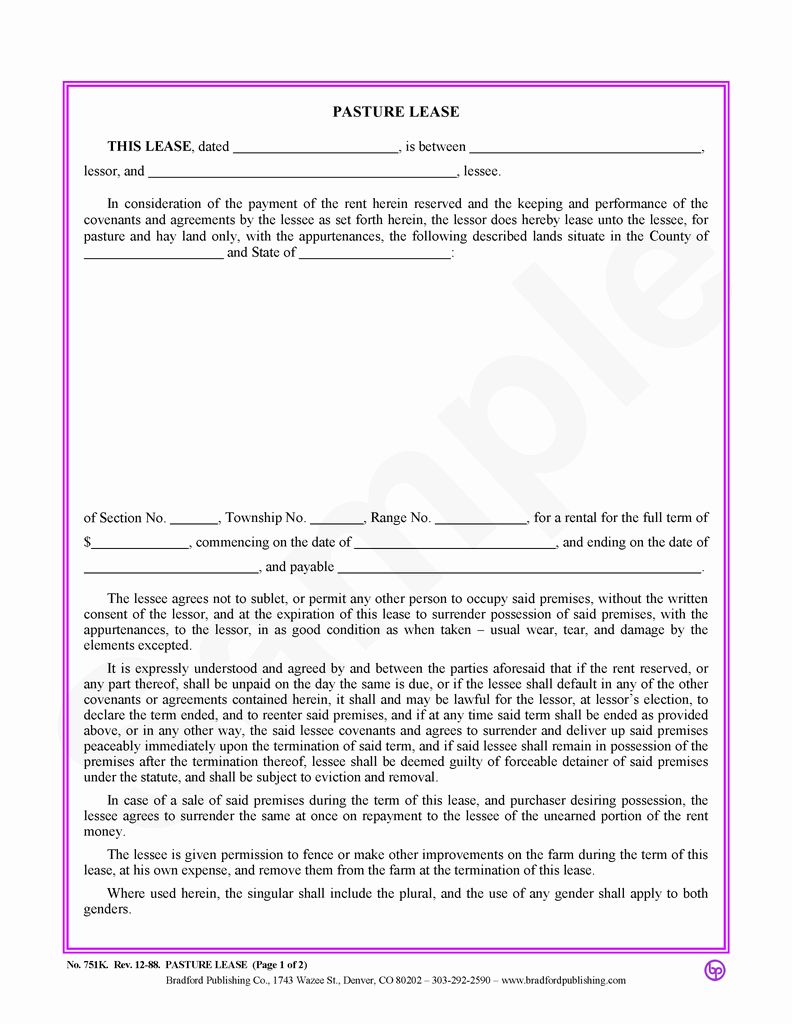 Pasture Lease Agreement Template Luxury Sample Pasture Lease Agreement Template Ideasplataforma