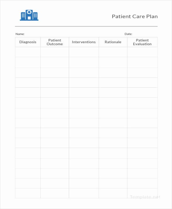 Patient Care Plan Template Beautiful 12 Patient Care Plan Templates Pdf Doc