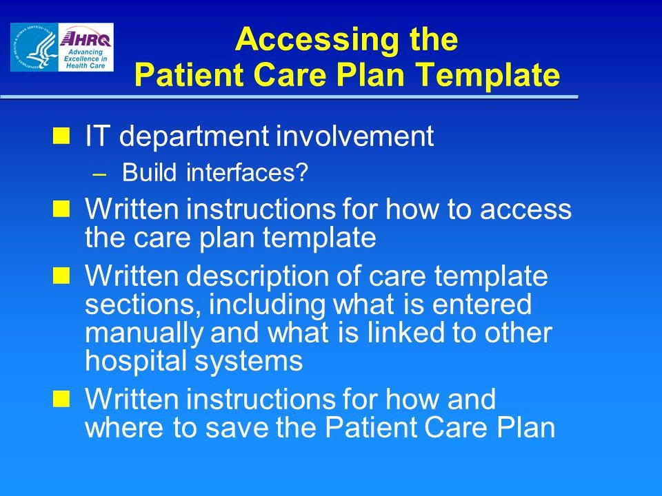 Patient Care Plan Template Fresh Module 2 the Re Designed Discharge Process Patient