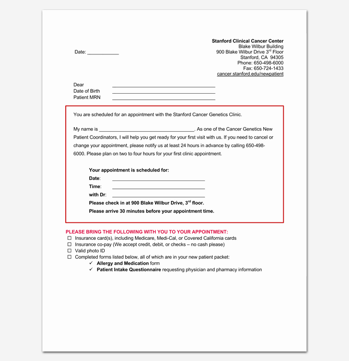 Patient Missed Appointment Letter Lovely Doctor Appointment Letter Template 14 Samples Examples