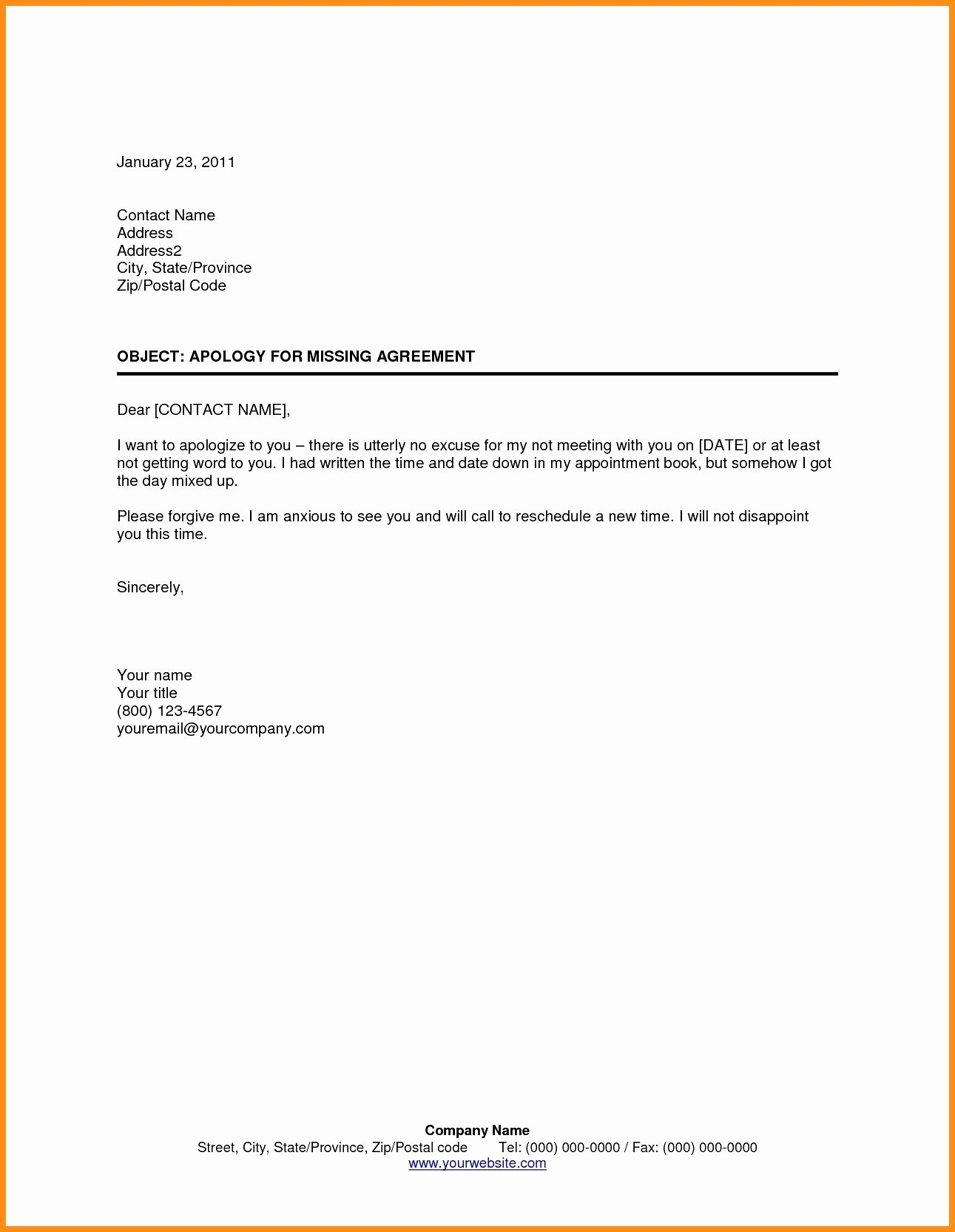 Patient Missed Appointment Letter Template Beautiful Patient Missed Appointment Letter Template Collection