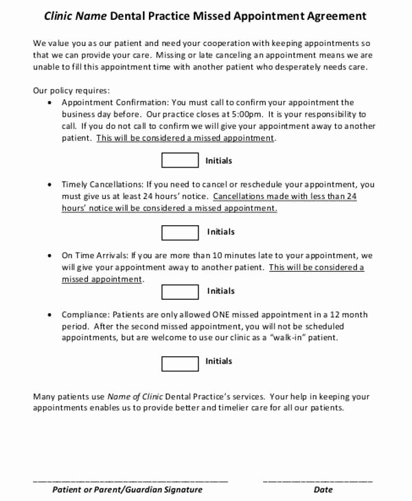 Patient Missed Appointment Letter Template New Missed Appointment Letter Template 6 Free Word Pdf